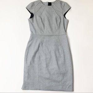 H&M dress houndstooth print black white career